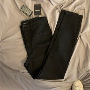 Black high rise stretchy jeans